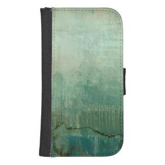 Contemporary Green Watercolor Samsung S4 Wallet Case