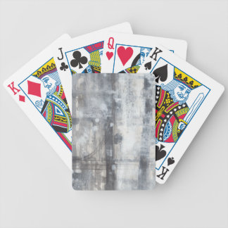 Contemporary Grey Painting Bicycle Playing Cards