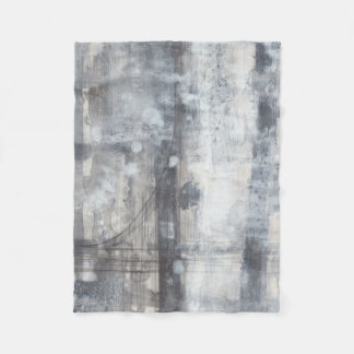 Contemporary Grey Painting Fleece Blanket