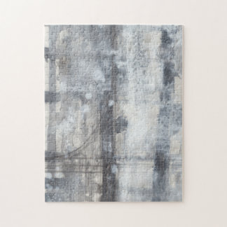 Contemporary Grey Painting Jigsaw Puzzle