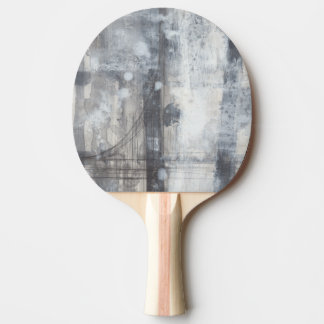 Contemporary Grey Painting Ping Pong Paddle