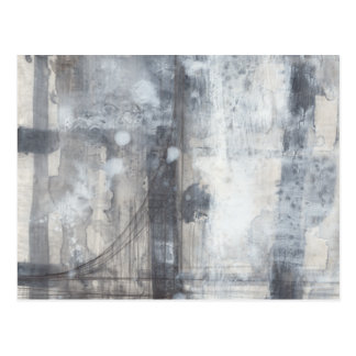 Contemporary Grey Painting Postcard