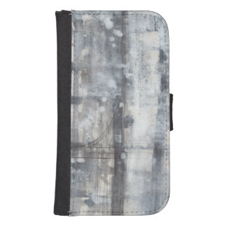 Contemporary Grey Painting Samsung S4 Wallet Case