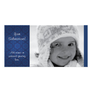 Contemporary Hanukkah Photocard Card