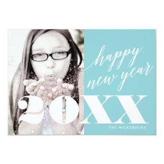 Contemporary Happy New Year Photo Greeting 13 Cm X 18 Cm Invitation Card