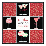 Contemporary Holiday Cocktail Party Invitations