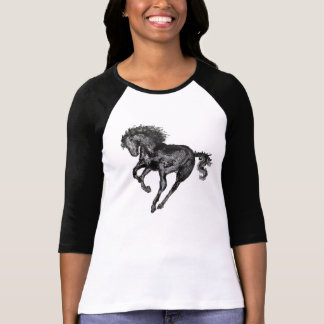 Contemporary Horse Ladies Raglan Top T-shirts