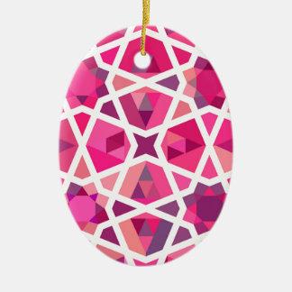 Contemporary Islamic Pattern Christmas Ornament
