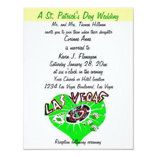 Contemporary Las Vegas St Patrick's Day Wedding 11 Cm X 14 Cm Invitation Card