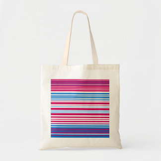 Contemporary light blue pink and white stripes tote bag