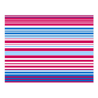 Contemporary light blue pink and white stripes postcard