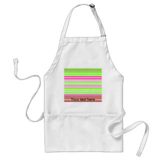 Contemporary light green and pink stripes adult apron
