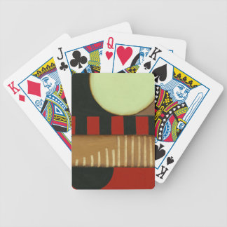 Contemporary Loft Style Paneled Painting Bicycle Playing Cards