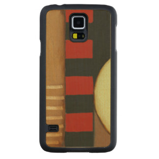 Contemporary Loft Style Paneled Painting Carved Maple Galaxy S5 Case