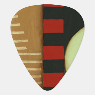 Contemporary Loft Style Paneled Painting Guitar Pick