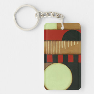Contemporary Loft Style Paneled Painting Keychains