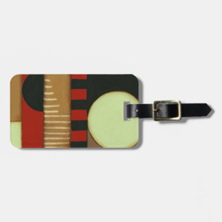 Contemporary Loft Style Paneled Painting Luggage Tag