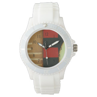 Contemporary Loft Style Paneled Painting Watch