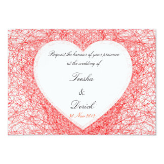 Contemporary love wedding invitation card by Kanji