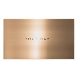 Contemporary Minimalism Rose Golf Cooper Vip Pack Of Standard Business Cards