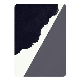 Contemporary Minimalistic Black and White Art 13 Cm X 18 Cm Invitation Card