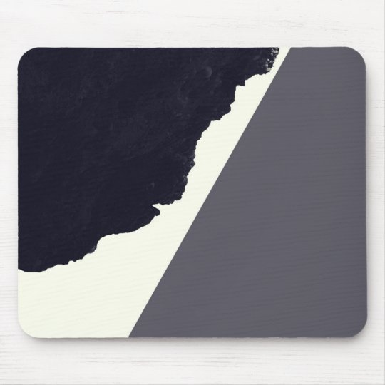 Contemporary Minimalistic Black and White Art Mouse Mat