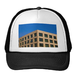 contemporary office building mesh hats