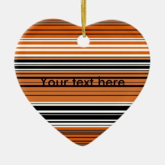 Contemporary orange and black horizontal stripes ornament
