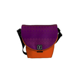 Contemporary Orange and Purple Rickshaw Bag Commuter Bag