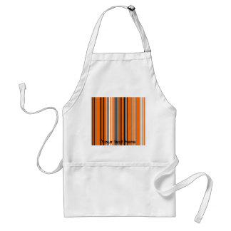 Contemporary orange black and white gray stripes standard apron