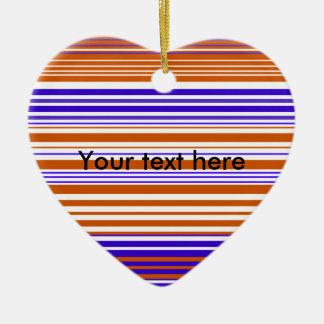 Contemporary orange white and purple stripes ornament