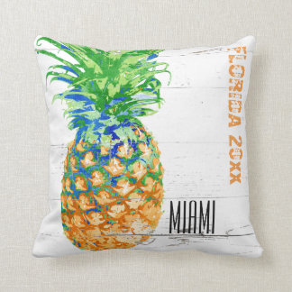 Contemporary Pineapple Add Year and Location Cushion