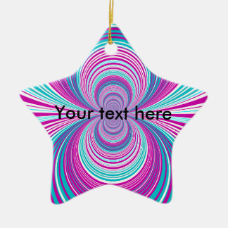 Contemporary pink and baby blue funnel christmas tree ornaments