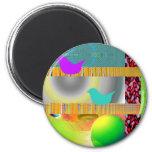 Contemporary Pop Art Fridge Magnet
