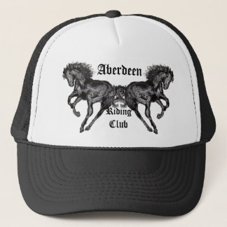 Contemporary Printerly Horse Truckers Cap Hat