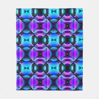 Contemporary Purple and Teal Strange Checks Fleece Blanket