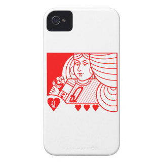 Contemporary Queen of Hearts Blackberry Case red