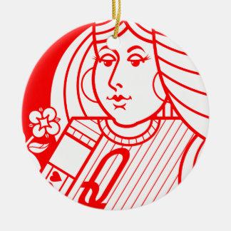 Contemporary Queen of Hearts Ornament (inverse)