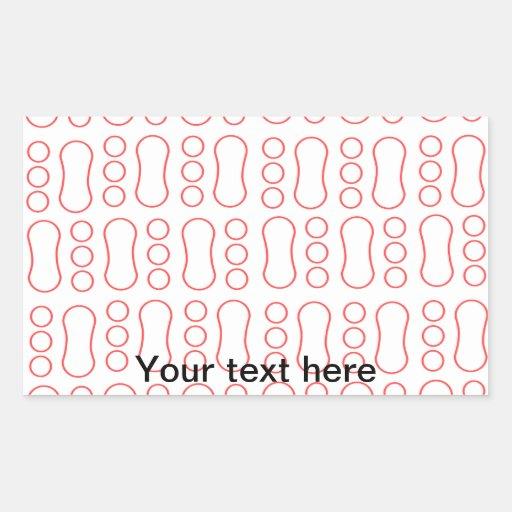 Contemporary red peanut pattern rectangular sticker