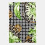 Contemporary: Retro Pop Art Style Kitchen Towel