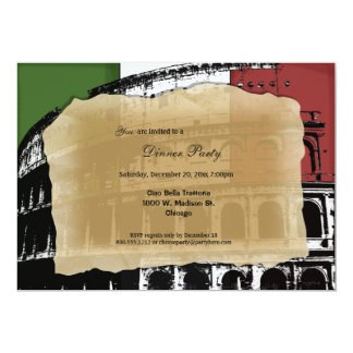 Contemporary Roman Coliseum Dinner Party Invite