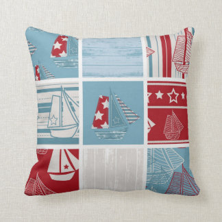 Contemporary Sailing Boat Pillow Style 1