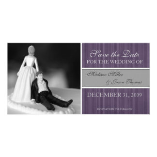 Contemporary Save the Date Announcement Customised Photo Card