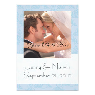Contemporary Save the Date Lt Blue - Photo Personalized Invitation