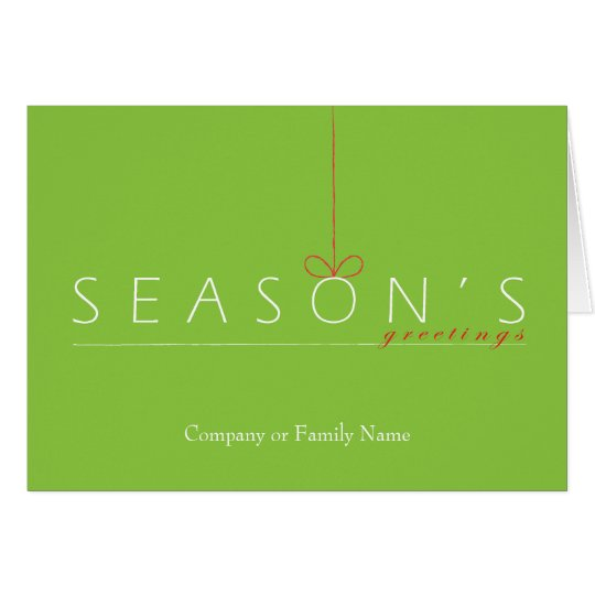 Contemporary Seasons Greetings Card