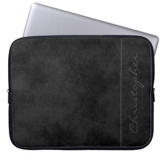 * Contemporary Signature Mottled Black Laptop Sleeve