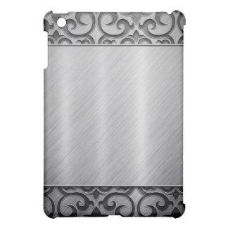 Contemporary Silver Metallic Swirl Case iPad Mini Cover