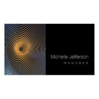 Contemporary Spirals Pattern Black Business Card