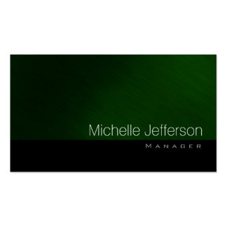 Contemporary Standard Green Black Business Card