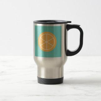 Contemporary Summer Citrus / Teal / Orange Florida Stainless Steel Travel Mug
